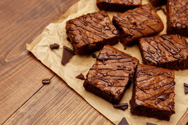 Photo of chocolate brownies on a table