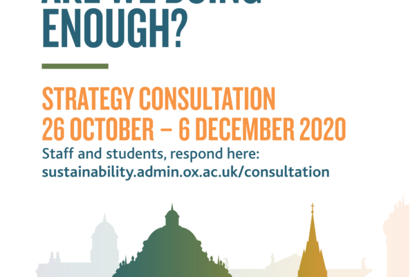 Environmental Sustainability - Are we doing enough? Strategy Consultation 26 October - 6 December 2020