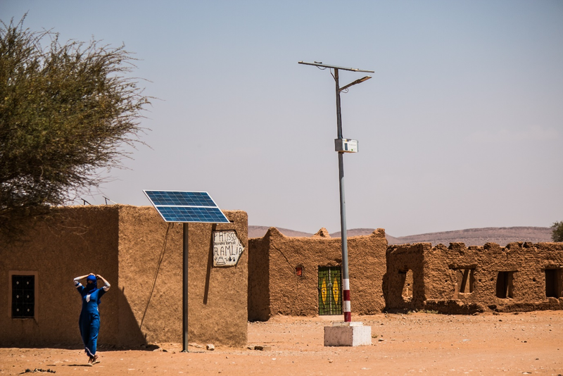 Solar power on a house in Morocco