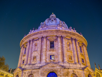 The radcliffe camera surrounded by stars