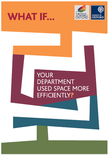 Poster with words 'What if... your departmnet used space more efficiently?'